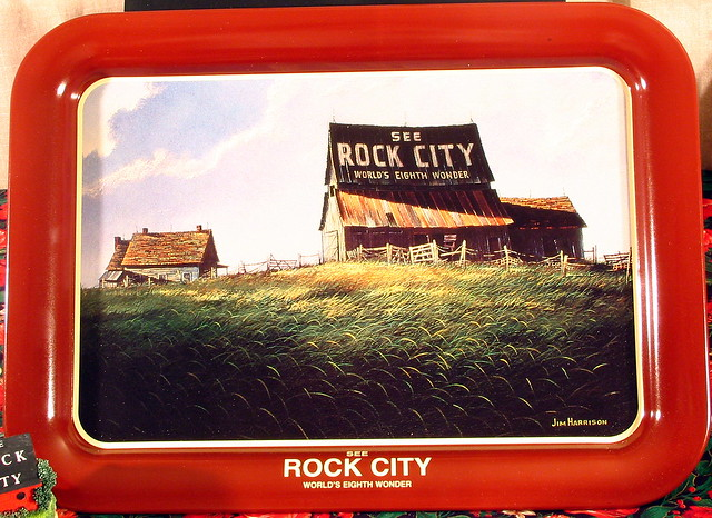 Rock City Tray with the artwork of Jim Harrison
