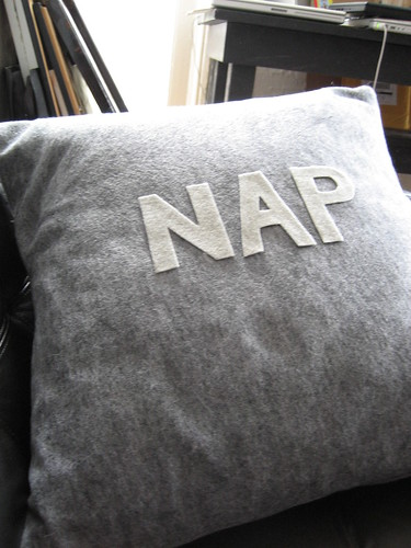 """nap"" pillow"