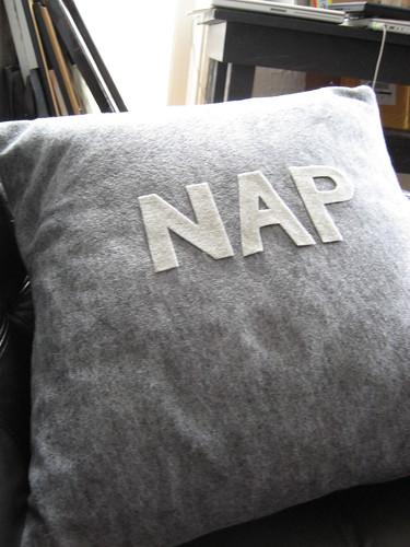 """""""nap"""" pillow"""