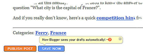 Blogger's added a great new auto-save feature