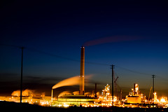 Syncrude Canada Limited Oil Refiinery (Chadwise) Tags: longexposure canada night canon alberta heavyequipment oilrefinery fortmcmurray syncrude rebelxti chadyoung