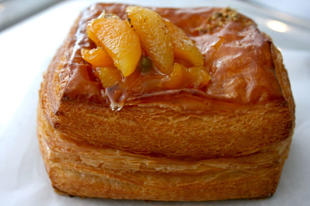 Side view of Apricot Elderflower Danish