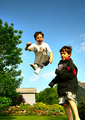 Maintaining Control (Accretion Point) Tags: kids fun flying high jumping friend son height sweetair massivejump