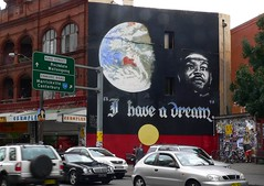 Martin Luther King at Newtown Sydney (Leonard John Matthews) Tags: street art liberty hope freedom justice globe king martin preacher sydney dream direction vision civil rights planet leader motivation newtown inspire racial luther statesman koorie tbacg