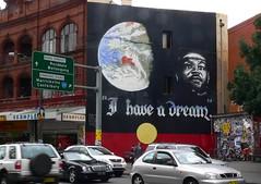 Martin Luther King at Newtown Sydney (Leonard John Matthews) Tags: street art liberty hope freedom justice globe king martin preacher sydney dream direction vision civil rights planet leader motivation newtown inspire racial luther statesman koorie tbacg