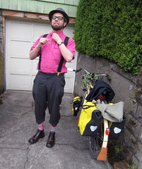 Styling by miss matilda (Patrick Barber) Tags: pink bike bicycle wardroberemix portland knickers patrick photobyholly vlocouture bicyclefixation styledbymissmatilda