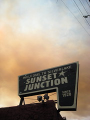 sunset junction sign (tonx) Tags: losangeles silverlake sunsetjunction lafire
