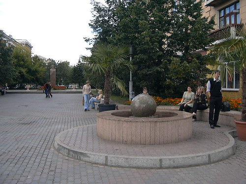 Krasnoyarsk is rich with Fountains ©  zhaffsky