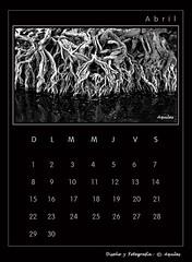 April Calendar Black