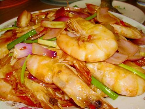 sweet & sour prawns
