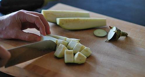 cubing eggplant - cookthink