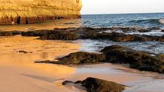 Golden Reflections (ann j p) Tags: beach portugal soe sunet carvoeiro specnature