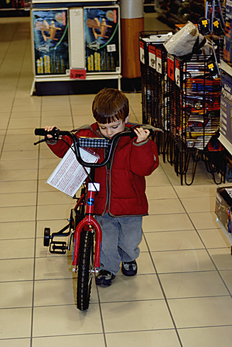 Evan pushing bike2872