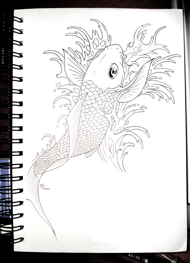 Famoso Peces Koi Japoneses Para Colorear Elaboración - Dibujos Para ...
