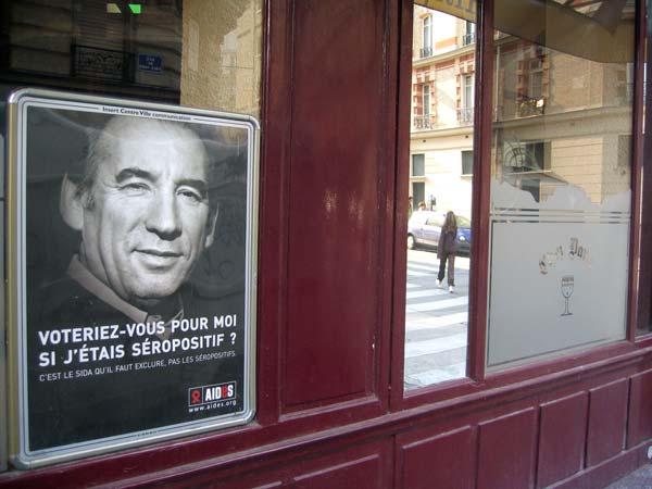 Campagne (électorale) contre le SIDA - François Bayrou