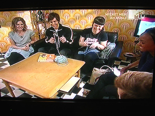 knitting on MTV