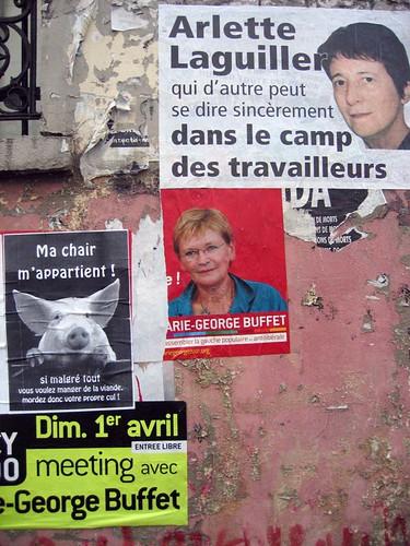 Campagne d'affichages - ExtrèmeS gaucheS et cochonailleS