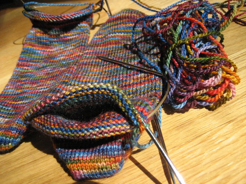 Summer anklets - in progress
