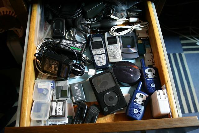 drawer gadgets phones