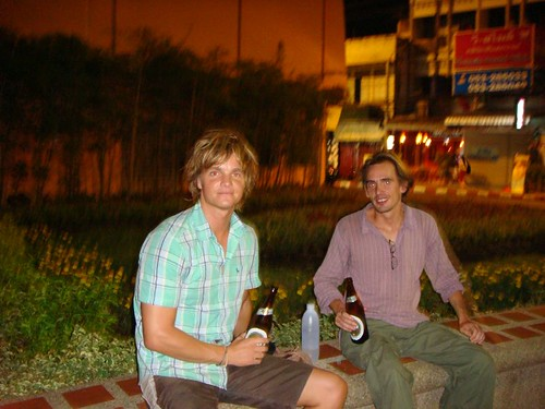 William and I chilling out in Chiang Mai.