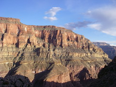 Grand Canyon - sunset on Tapeats Creek east wall (Al_HikesAZ) Tags: park camping sunset shadow arizona mountains creek landscape shadows hiking grandcanyon grand canyon hike national backpacking backpack backcountry hikes inthecanyon  grandcanyonnationalpark coloradoplateau literaryreference gcnp awesomenature thunderriver unature tapeats alhikesaz   belowtherim