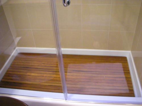 teak shower base - a photo on Flickriver