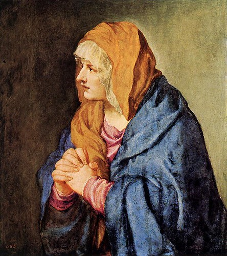 """Mater Dolorosa (with clasped hands)"""
