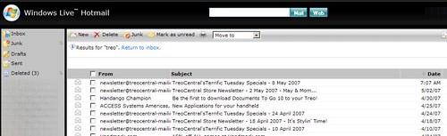 Windows Live Hotmail - Non AJAX Screenshot