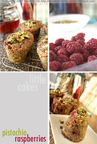 Pistachio and Raspberry Little Cakes