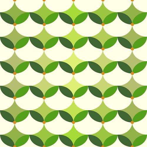 Warabi (green) -- chiyogami pattern japanese inspired japaneseinspiredpattern green design warabi