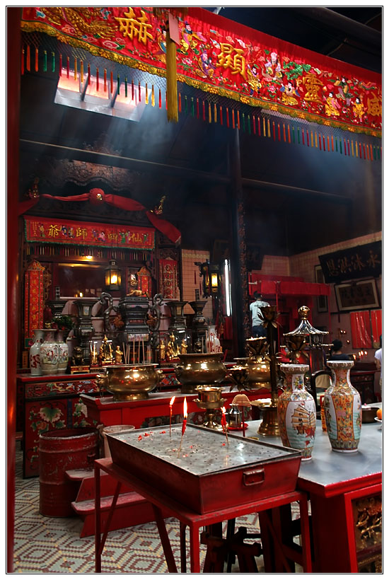 Inside a Chinese Temple in KL