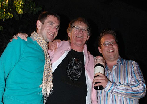 Father and sons at Bordeaux