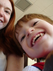 The Amazing 3 Year old (staceyrebecca) Tags: 3 three grin sockpuppet boychild
