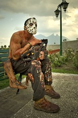 Welcome to Monterrey... (CarlosBravo) Tags: jason tourism sierra horror mascara masked friday13 monterrey miedo cerrodelasilla macroplaza fridaythe13 houseofterror viernes13 casadelterror cabghorror
