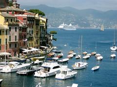 Portofino Harbor (Josh Clark) Tags: blue italy boat mediterranean ship portofino silverwhisper cruise2007