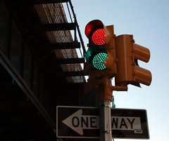 Red light, green light (erikschryver) Tags: nyc trafficlight guesswherenyc explore queens nycguessed atrain libertyavenue satanslaundromatguessed