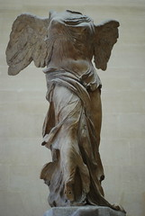 Victory of Samothrace (aka Nike) (TylerYoga) Tags: sculpture paris france art beautiful statue museum headless louvre famous january large victory glorious classical inside armless winged graceful magnificent 2007 masterful samothrace pariee centralstairway