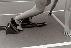 track (laurentheartist88) Tags: lauren nebraska university track line lincoln blocks runner spikes starting stance olson sprinter