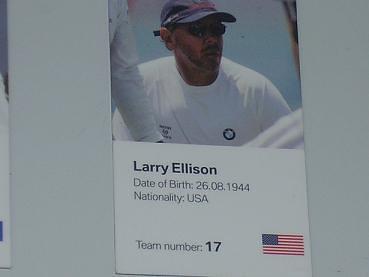 Larry Ellison tripulante