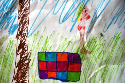 close up of child's drawing