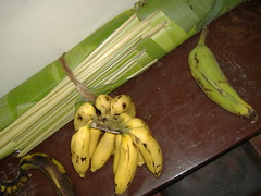 Banana fruit, leaf and vegetable