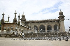 Mecca Masjid in Hyderabad (crazymaq) Tags: muslim islam mosque hyderabad mecca masjid charminar golconda andhrapradesh secunderabad owaisi majliseittehadulmuslimeen
