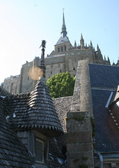 Mont St Michel, View of Rooftops