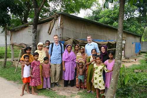 With the villagers