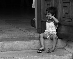 crying alone (jobarracuda) Tags: bw lumix child crying u churchdoor fz50 panasoniclumix flickrsbest dmcfz50 jobarracuda ysplix fotocompetition fotocompetitionbronze