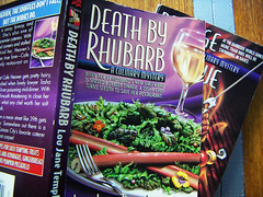 Cover of a book called Death by Rhubarb