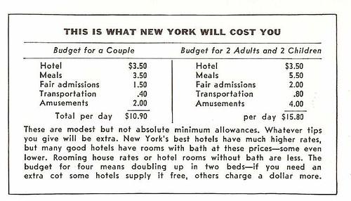 NYWF Costs 1939
