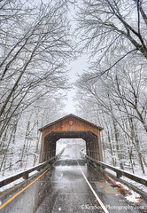 Covered Bridge ... snow'framed (Ken Scott) Tags: backpage firstsnow leelanau michigan usa 2016 december fall autumn 45thparallel hdr kenscott kenscottphotography kenscottphotographycom freshwater greatlakes lakemichigan sbdnl sleepingbeardunenationallakeshore voted mostbeautifulplaceinamerica coveredbridge road alongthepiercestockingscenicdrive