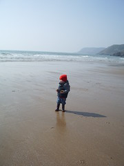 Benjamin at Caswell Bay, Gower
