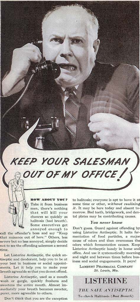 Vintage Ad #212 - Keep Your Salesman Out of My Office!